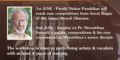 Workshop by Pt. Dinkar Panshikar